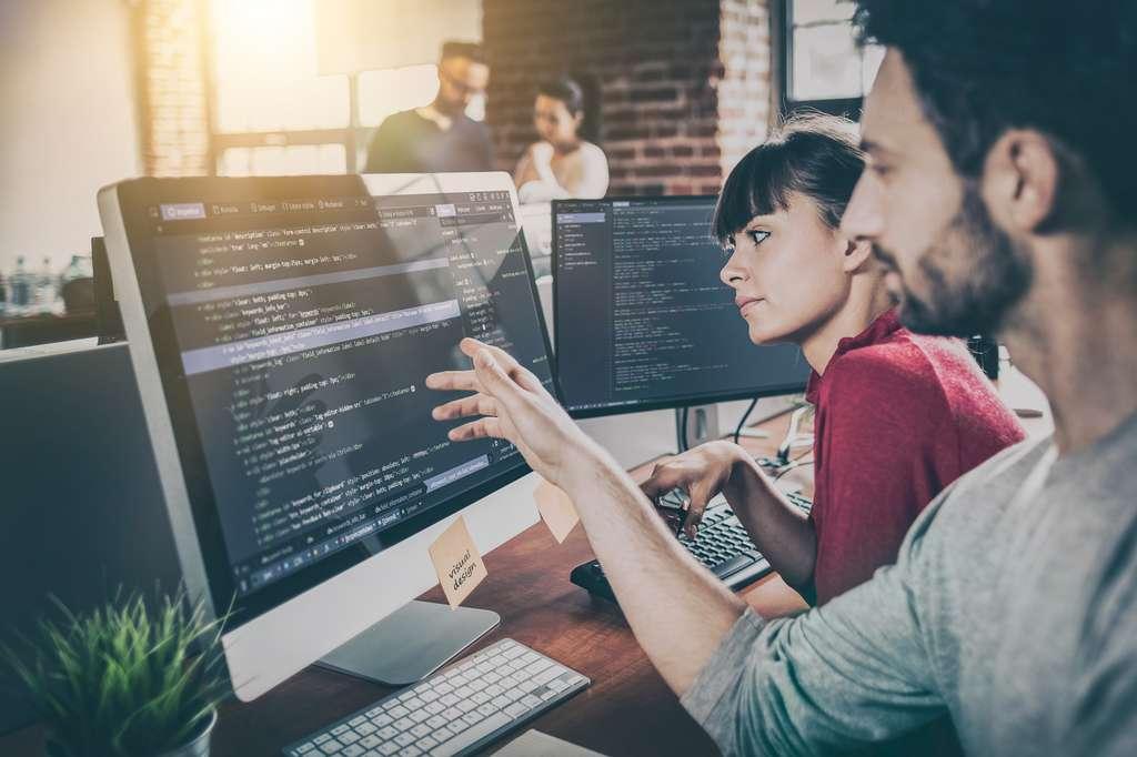 Le développeur web réfléchit à la meilleure solution pour concilier le cahier des charges du client et les contraintes techniques. © REDPIXEL, Fotolia.