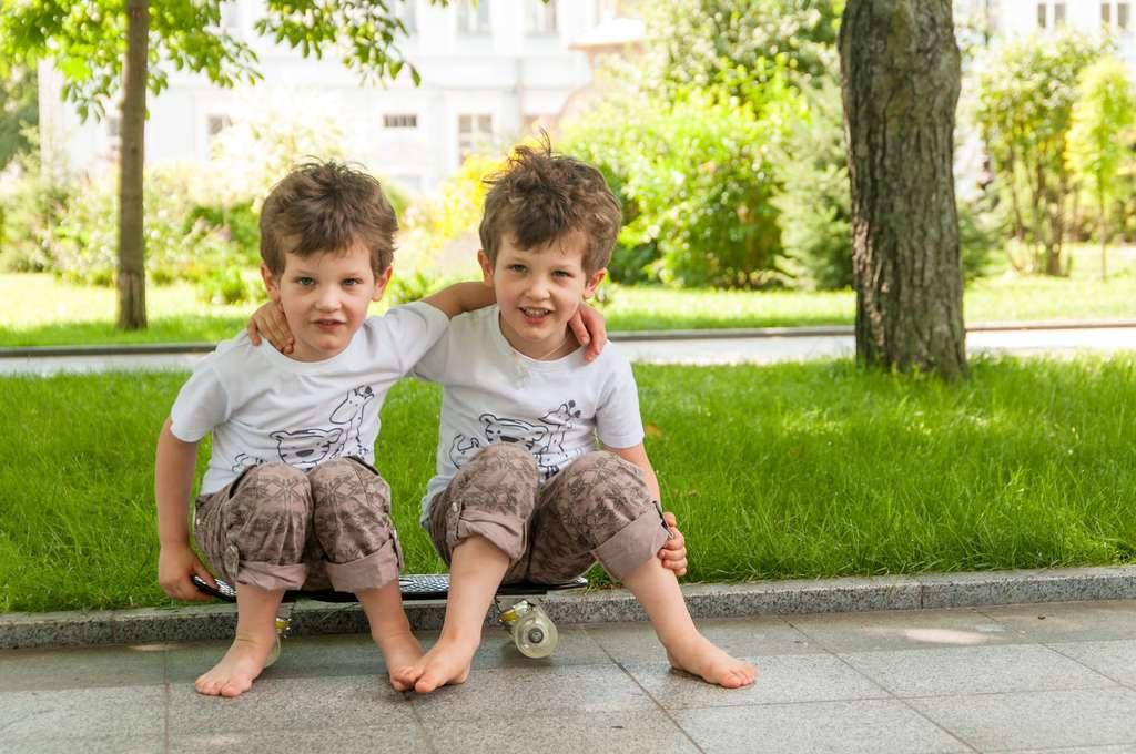 Les jumeaux homozygotes sont issus de la même cellule-œuf et possèdent un patrimoine génétique identique. © toncha, Fotolia