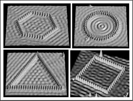 Atome de fer déposé sur une surface de cobalt par des chercheurs d'IBM. Crédit : M.F. Crommie, C.P. Lutz, D.M. Eigler, E.J. Heller