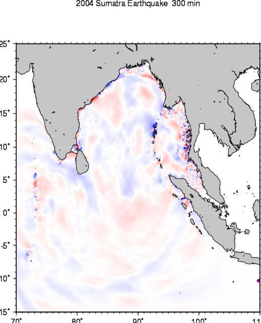 Animation Tsunami / Tremblement de terre de Sumatra 2004