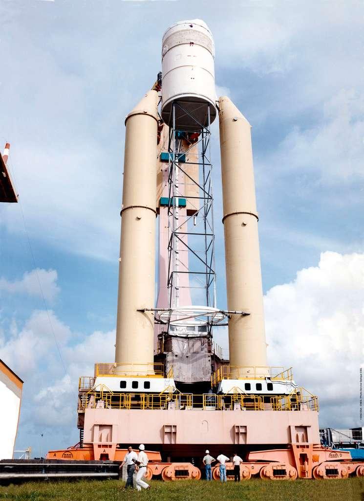 Maquette d'Ariane 5 ECA