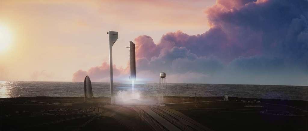 La réutilisabilité, la pierre angulaire du projet projet Mars Colonial Transporter de SpaceX. © SpaceX