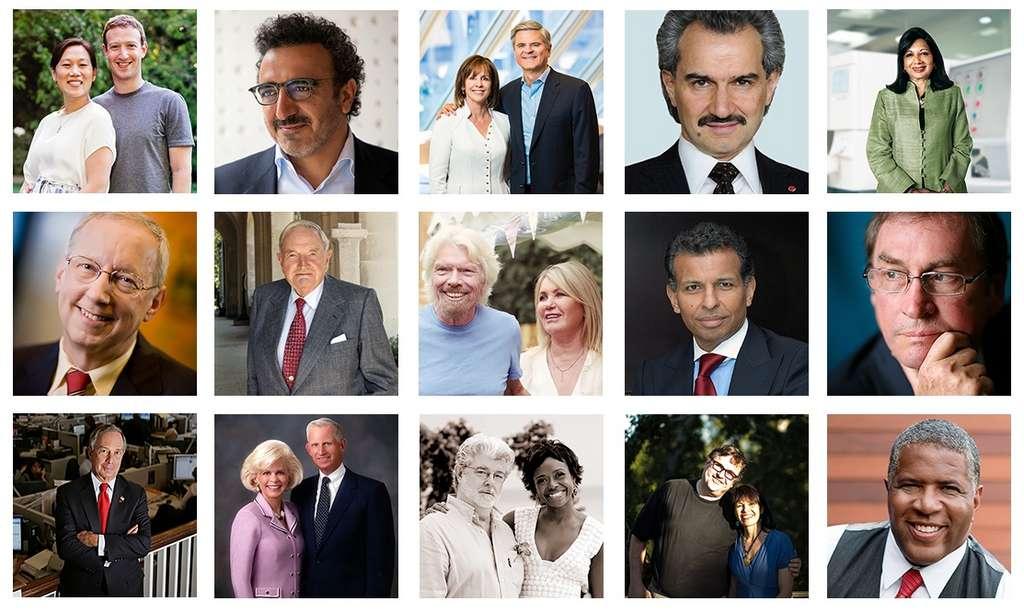 186 milliardaires ont déjà répondu à l'appel Giving Pledge pour céder la majorité de leur fortune à des oeuvres philanthropiques. © The Giving Pledge, Futura