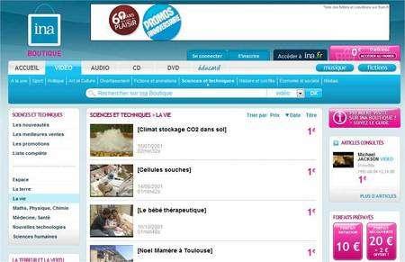 La boutique en ligne se trouve sur un autre site. Elle permet d'acheter un document récupérable en téléchargement ou bien sur un CD ou un DVD.