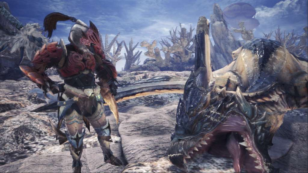 Monster Hunter World vous plonge dans la traque de créatures. © Capcom Co.