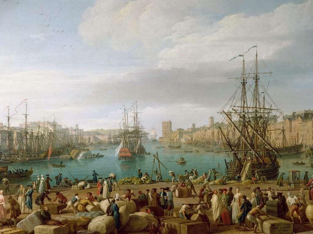 Le port de Marseille par Claude Joseph Vernet en 1754. Musée national de la Marine, palais de Chaillot, Paris. © Musée national de la Marine, A. Fux