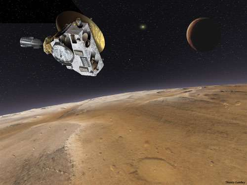 Pluton - New Horizons © Dessin réalisé en exclusivité pour Futura-Sciences par Thierry Lombry - Toute reproduction et exploitation interdites