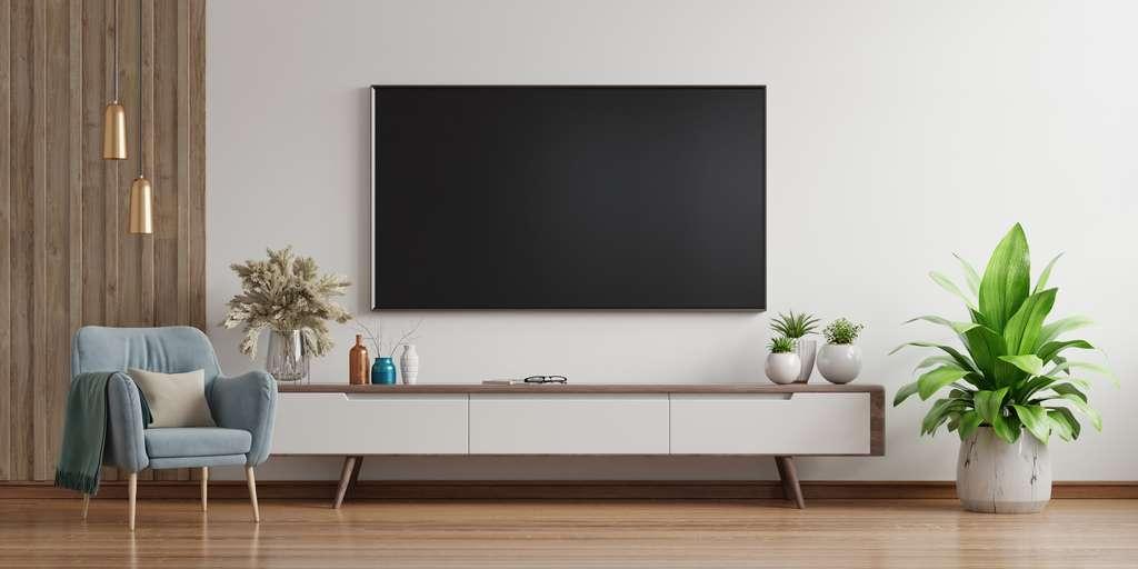 La TV 65 pouce, finesse et flexibilité. © max3d007, Adobe Stock