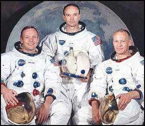 L'équipage d'Apollo 11. De gauche à droite : Neil Armstrong, Michael Collins et Buzz Aldrin.© Photo Nasa