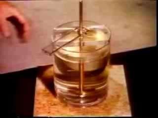 """Une image instantanée d'un film tourné lors des expériences menées par le physicien Taylor pour observer la réversibilité hydrodynamique. Le dispositif de l'équipe de Pine est similaire à celui de Taylor. (G.I. Taylor's """"clip on hydrodynamic reversibility"""")"""