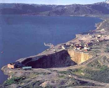 Mine de cryolithe d'Ivigtut