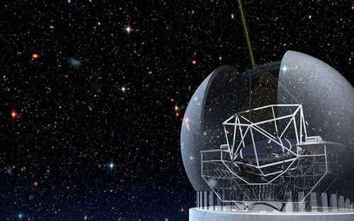 Figure 10. Une autre représentation du Thirty Meter Telescope. © TMT