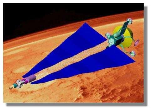 Projet de sonde martienne à propulsion nucléoélectrique. Crédits : NASA