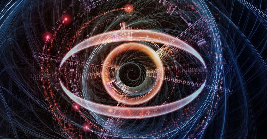 Vision d'un œil numérique. © Agsandrew, Shutterstock