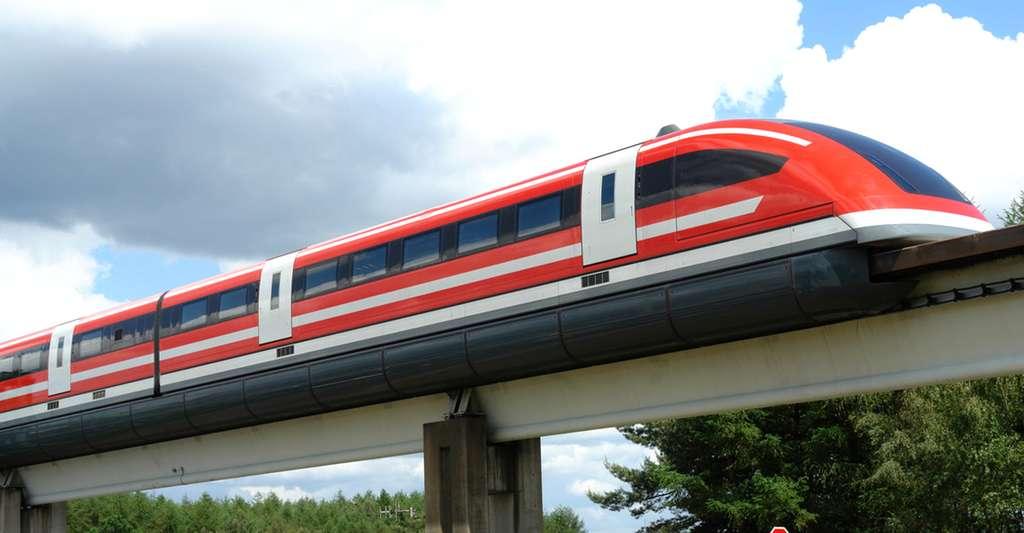 Test de rapidité du Transrapid 09 - Allemagne.© Allatka - Domaine public