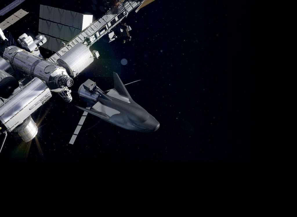 L'amarrage du véhicule à la Station se fera à l'aide d'un mécanisme fourni par l'Agence spatiale européenne (IBDM). © Sierra Neva Corporation