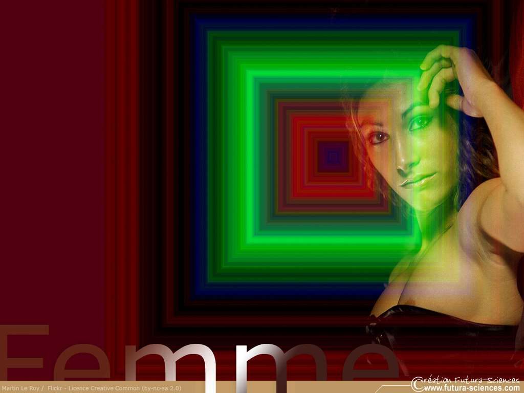 Femme au carré vert