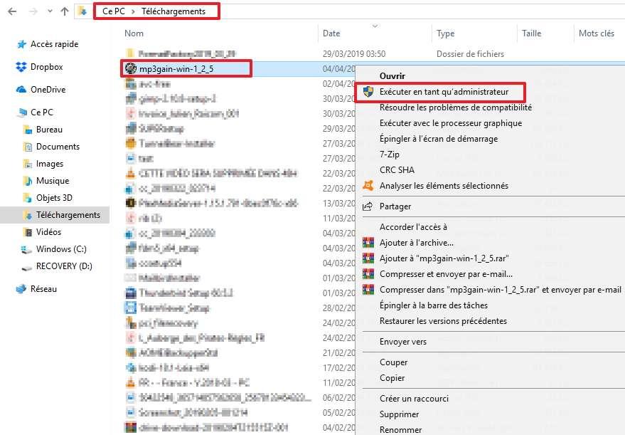 Cherchez le fichier d'installation pour l'exécuter. © Microsoft