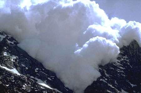 Avalanche de neige humide (ou de fonte). © DR