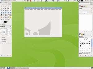 Écran de démarrage de Gimp 2.5 sous Linux/Gnome