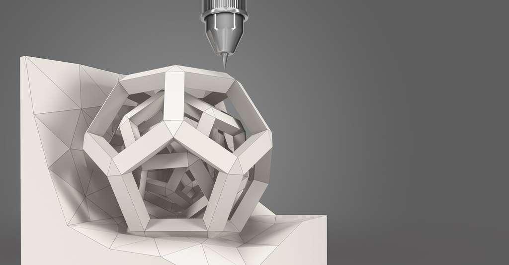 Forme géométrique imprimée en 3D. © Iaremenko Sergii, Shutterstock