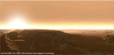 Paysage martien. © Données Nasa/GSFC/Mola Science Team / Image O. de Goursac