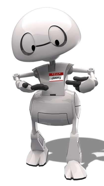 Le robot Jimmy est né de l'imagination de Brian Johnson, chercheur « futuriste » chez Intel. Avec ce projet, il veut faire en sorte que les amateurs puissent fabriquer leur robot et le personnaliser aussi facilement qu'ils ajoutent des applications sur leur smartphone. © Intel