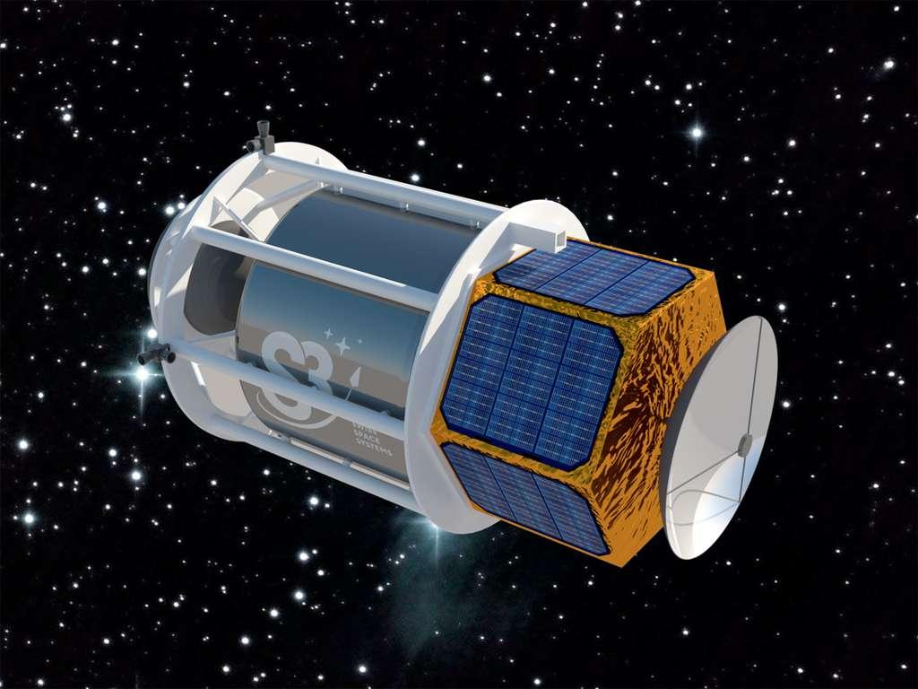 L'étage supérieur du Soar pourra lancer en orbite basse (de 600 à 800 km d'altitude) un satellite de 250 kg maximum ou une grappe de plusieurs dizaines de satellites de petite taille. © Swiss Space Systems