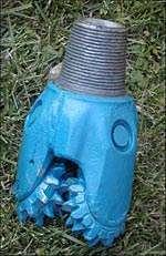 Trépan utilisé pour le forage géothermique. © BRGM