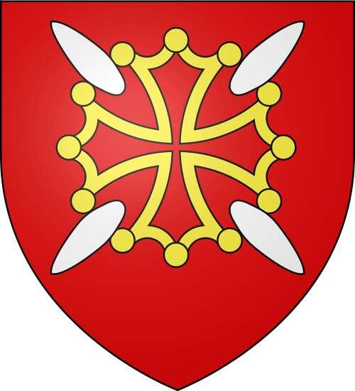 Blason du département de la Haute-Garonne. La croix, dite de Toulouse, figure sur le blason du Languedoc. © Spedona, Wikimedia Commons, GNU 1.2