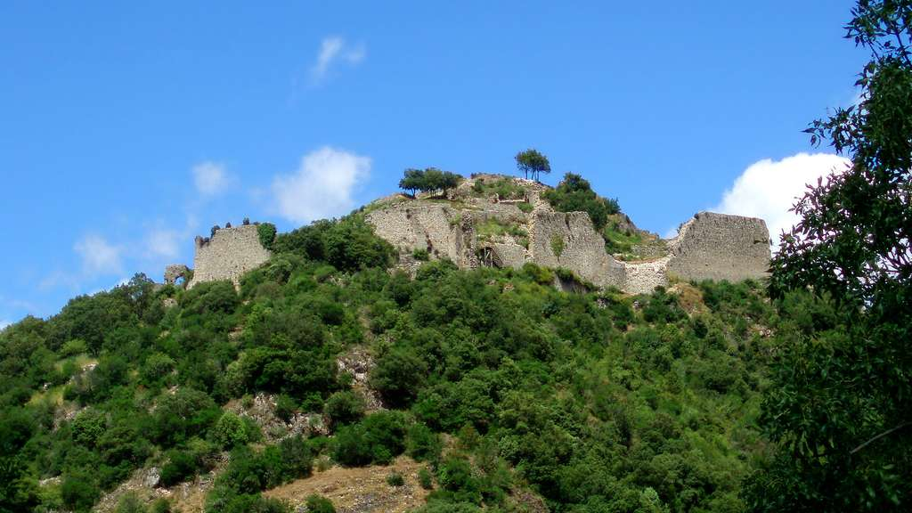 Les vestiges du château de Termes
