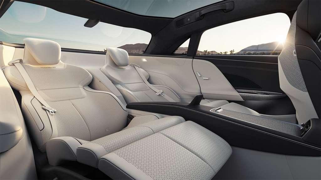 L'option sièges « jet » sera disponible à partir de 2022. © Lucid Motors