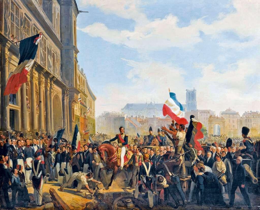 Louis Philippe à l'Hôtel de Ville de Paris, le 31 juillet 1830 ; par Eloi Firmin Féron en 1837. Château de Versailles. © RMN - Grand Palais / Gérard Blot.