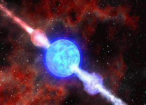 Les sursauts gamma pourraient nous révéler si, oui ou non, notre univers contient des dimensions supplémentaires (Crédits : Dana Berry, SkyWorks Digital)