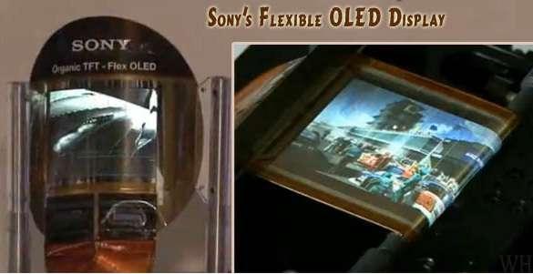 Les prochaines innovations attendues pour les tablettes concernent les écrans. Sur cette image, un écran flexible présenté par Sony en 2010, prévu dans nos magasins au premier semestre 2012. © Shekhar Sahu, Creative Commons