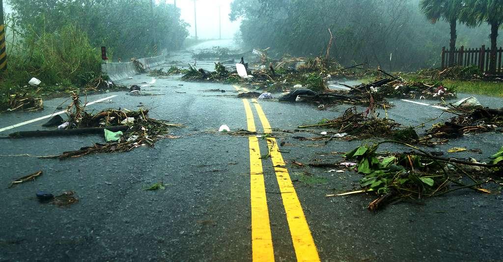 Les conséquences des risques cycloniques peuvent être terribles. Ici, dégâts causés après un typhon. © Images By Kenny, Shutterstock