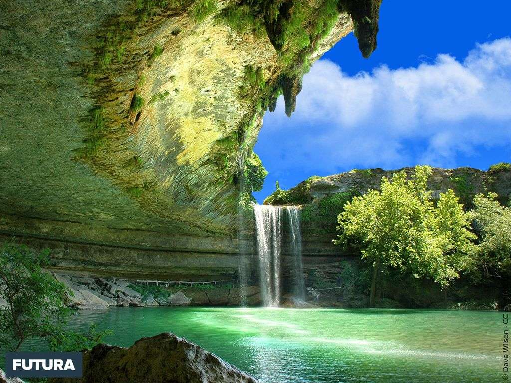 Fond D Ecran Cascade Hamilton Pool Texas