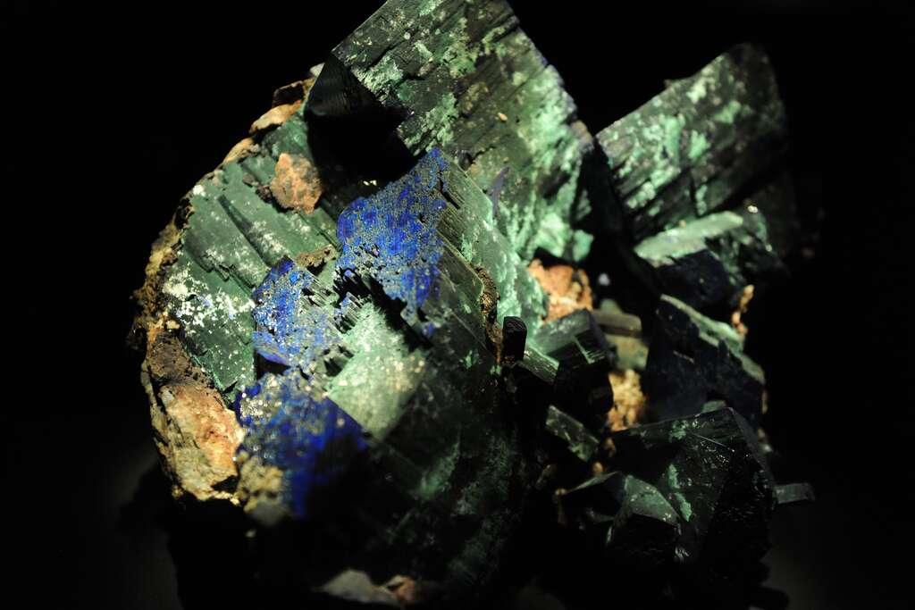 Azurite et malachite sont mélangées à l'image. © Euthman, Flickr, CC by 2.0