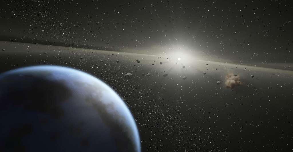 Ceinture d'astéroïdes. © NASA/JPL-Caltech CCO