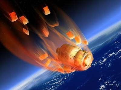 A la fin de sa mission, l'ATV se désintegrera dans l'atmosphère, avec les déchets de l'ISS à son bord (Crédit : ESA)