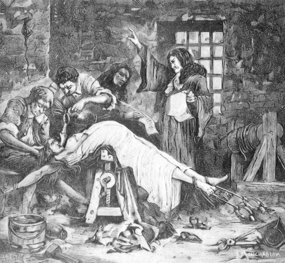 La marquise de Brinvilliers a été torturée et a subi le supplice de l'eau pour avouer ses crimes. © Wikimedia Commons, Domaine Public