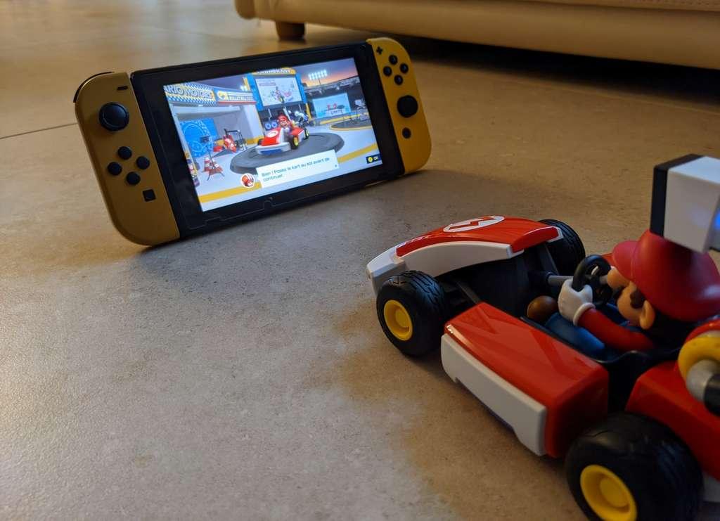 Quelques minutes suffisent pour configurer Mario Kart Live Home Circuit. © Marc Zaffagni