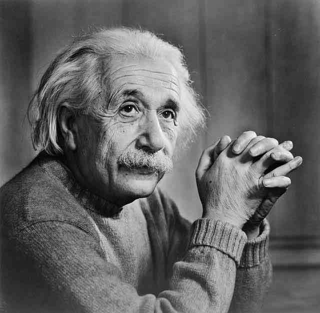 Albert Einstein quelques années avant sa mort (due à une rupture d'anévrisme) à Princeton. Les secrets de son génie sont-ils lisibles dans son conectome ? © DP