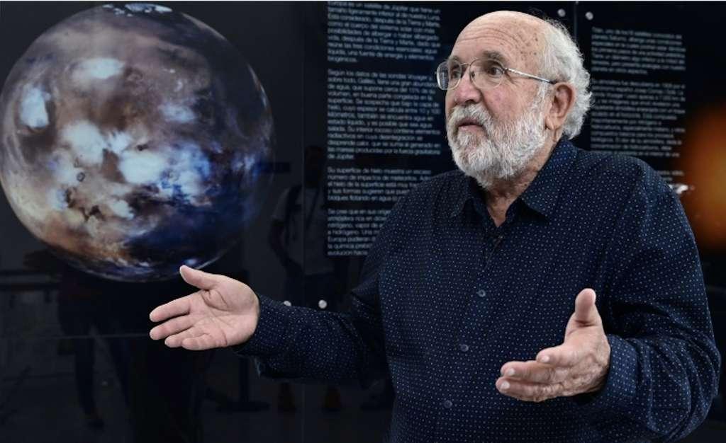 L'astrophysicien suisse Michel Mayor, prix Nobel de physique 2019 et codécouveur de la première exoplanète, durant une interview à l'AFP à Torrejon de Ardoz, en Espagne, le 9 octobre 2019. © Javier Soriano, AFP