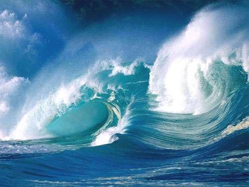 Vagues dans l'océan. © DR, reproduction et utilisation interdites