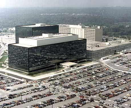 Le QG de la NSA et du réseau ECHELON à Fort George G. Meade, Maryland,