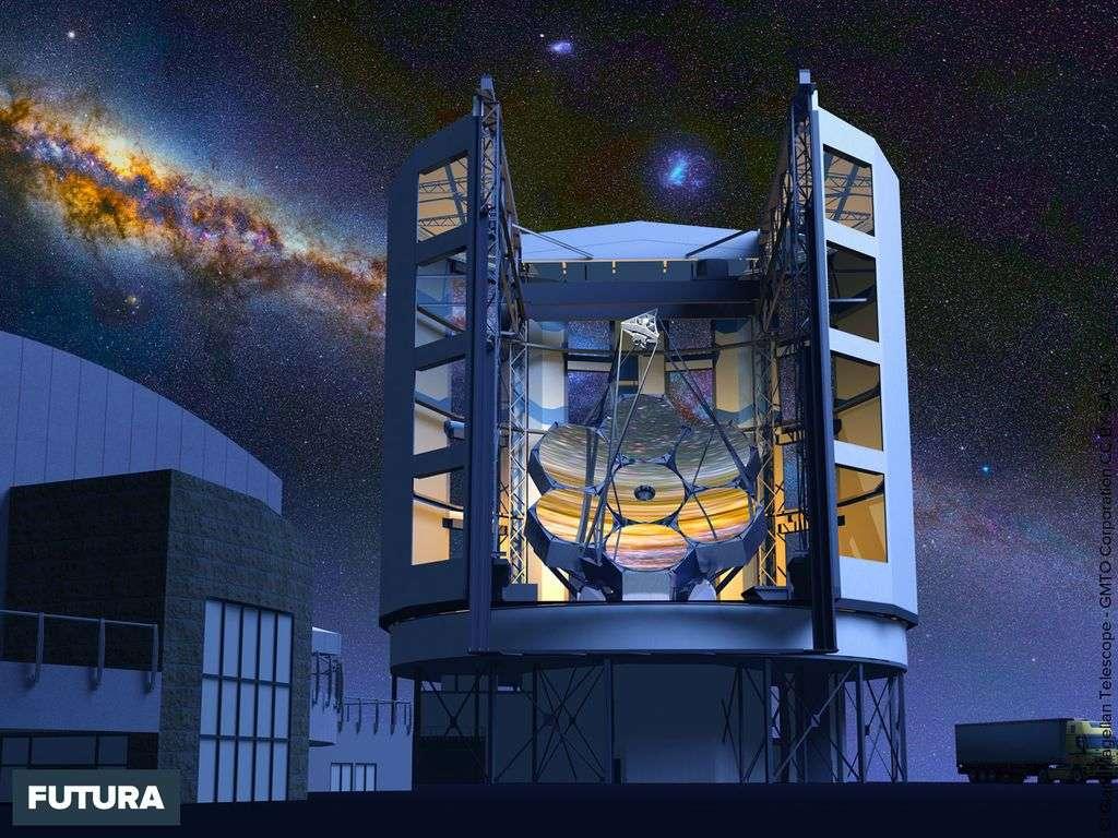 Le télescope géant Magellan, le plus grand du monde opérationnel en 2020 au Chili.