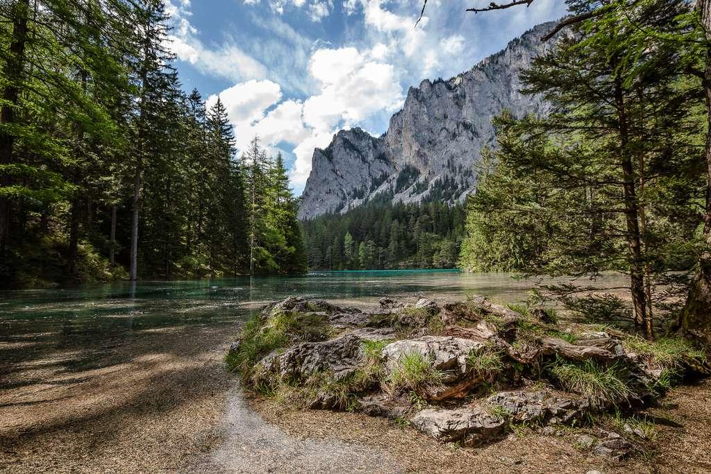 Le lac Vert, au pied des Alpes autrichiennes