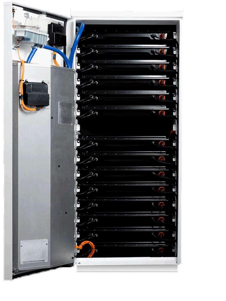 Le système de stockage Powerpack de Tesla se compose de 16 batteries lithium-ion et de l'ensemble des capteurs et onduleurs à même d'assurer leur bon fonctionnement. © Tesla