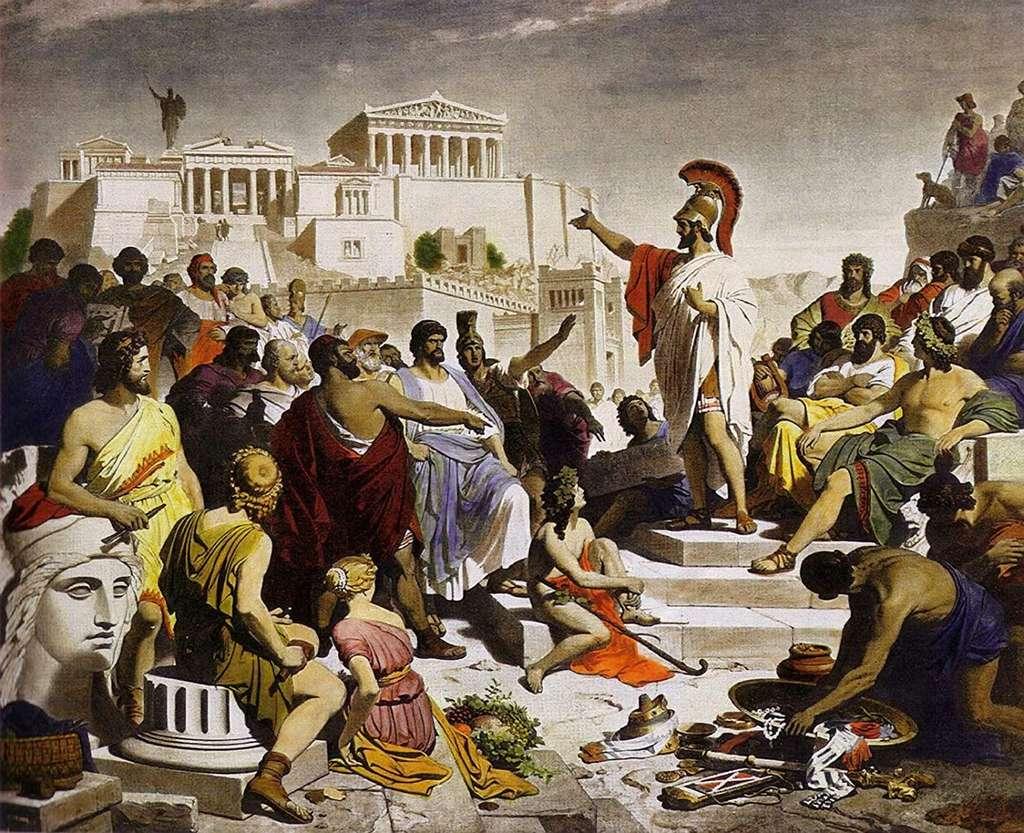 Pericles donnant l'oraison funèbre / Philipp von Foltz © Wikipedia